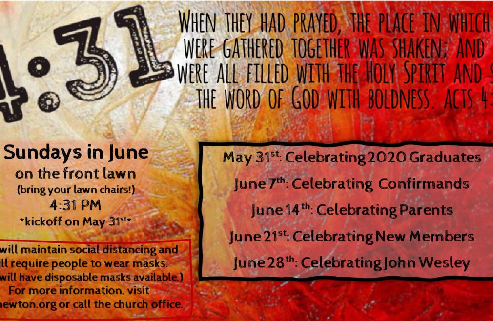4:31 Outdoor Worship: Celebrating Graduates